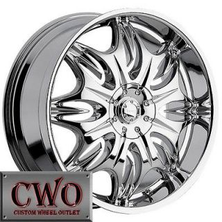 24 Chrome Incubus Jinx Wheels Rims 5x115/5x120 5 Lug Charger 300C BMW