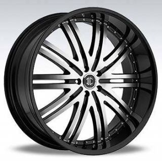 2CRAVE NO11 24x10 5x139.7 ET15 BLACK MACHINED WHEELS (4) NEW RIMS