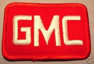 RARE GMC GENERAL MOTORS DEALER CAR TRUCK RED/WHT PATCH