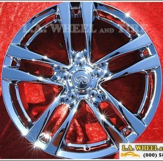of 4 New 18 Infiniti G37 Coupe Chrome Factory OEM Wheels Rims 73702