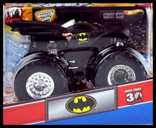 2012 Hot Wheels Monster Jam Truck Batman with Topps Trading Card