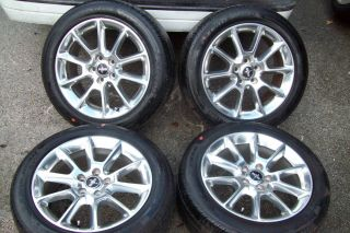 2010 2011 Factory 18 Mustang Wheels Tires TPMS Rims Polished