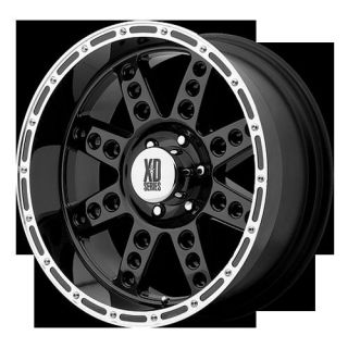 XD766 DIESEL GLOSS BLACK MACHINED RIMS NITTO MUD GRAPPLER TIRES WHEELS
