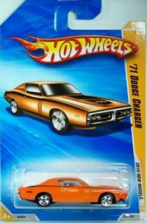 Hot Wheels 1971 Dodge Charger Orange 2010 New Models