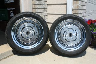 2010 Fatboy Chrome Wheels and Tires