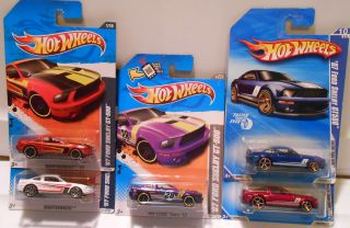 2010 2011 2012 Hot Wheels 07 Ford Shelby GT 500 Variations