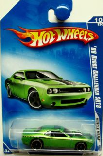 2008 Dodge Challenger SRT8 Hot Wheels 2009 Muscle Mania 10 10 Green
