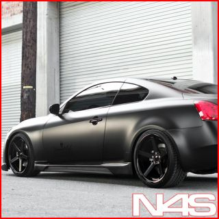 G37 G37S Coupe Stance SC 5IVE SC5 Black Concave Wheels Rims