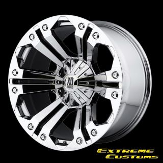Series XD778 Monster Chrome 5 6 7 8 Lug Wheels Rims Free Lugs