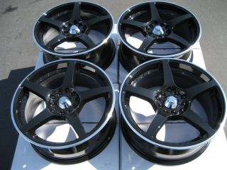 17 5x114 3 5x100 Black Effect Wheels Camry TL RSX Acura Altima Maxima