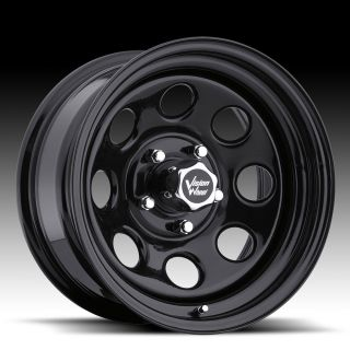 Soft 8 Black Steel Wheels Rims 6x5 5 6 Lug Chevy GM Truck
