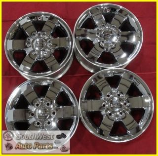 08 09 10 11 12 COLORADO CANYON 17 CHROME CLAD WHEELS USED OEM RIMS SET