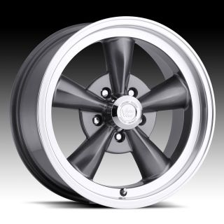 GUNMETAL VISION LEGEND 5 WHEELS RIMS CAMARO CHEVELLE IMPALA FIREBIRD