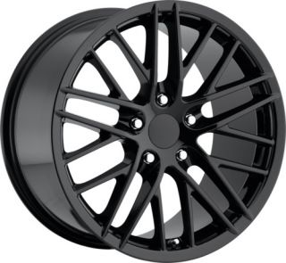 Corvette ZR1 C6 Gloss Black Wheels Rims for C5 or C6 18x8 5 19x10