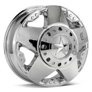 XD ROCKSTAR XD775 DUALLY CHROME WHEELS 17 INCH RIMS 111MM FR, 134MM RE