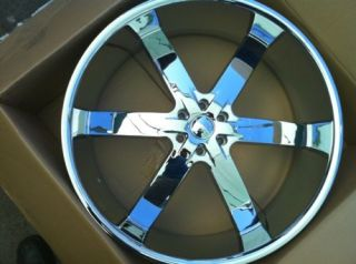 Toyota Tacoma Tundra Sequoia 24 Rims and Tires Chrome 295 35 24