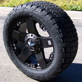 20 Black XD Rockstar Wheels Nitto Terra Grappler Tires Toyota Tundra