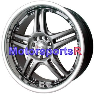 20 XXR 502 Chromium Black Rims Wheels 5x114 3 08 09 10 11 12 13 Scion