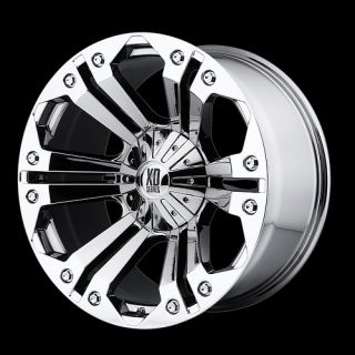 Chrome with 37x13 50x18 Nitto Mud Grappler MT Tires Wheels Rims