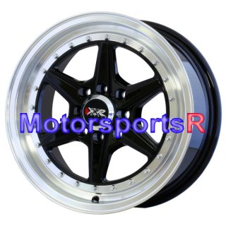 15 15x7 XXR 501 Black Rims Wheels 4x114 3 02 03 04 05 06 07 Mitsubishi