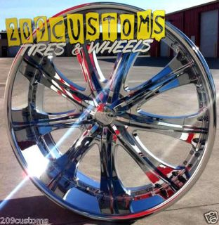 22 inch Red Sport Wheels Rims Tires RSW33 5x115 5x120 13 Offset Monte