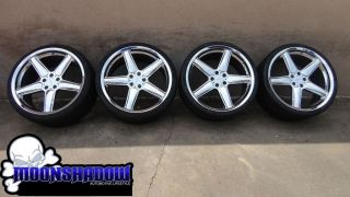 BMW AC Schnitzer Type II 22 22x10 5 Chrome Wheels Rims with Pirelli