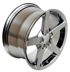 C6 CORVETTE REPLICA WHEELS RIMS CHROME 18x9.5 19x10 2005   2012 NEW C6