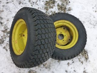 John Deere 212 Tractor Good Year 23x10 50 12 Rear Tires Rims