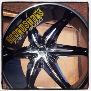 24 24 inch Helo 866 Black Wheels Rims Tires 6x139 7 Escalade Tahoe