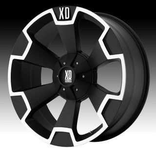 20 inch 20x9 KMC XD Black Wheels Rims 5x150 Toyota Tundra Sequoia