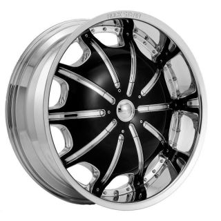 inch Rims and Tires Wheels Rockstarr 557 Chrome Chevrolet Tahoe 26 28