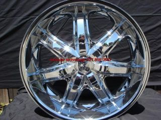 24 Wheels Rims Package Free Tires Bentchi Borghini B7 Chrome 5x139 7