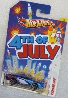 2012 HOT WHEELS Chevy Camaro Z28 4th of July Kroger Exclusive #1/5