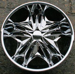 Viscera 728 22 Chrome Rims Wheels Lexus ES330 GS300 SC300 22 x 8 5 5H
