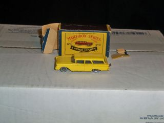 Matchbox Moko Lesney No 31 Ford Fairline Station Wagon Gray Wheels