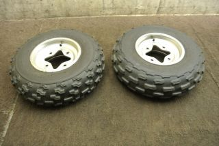 2006 06 Suzuki LTZ400 LTZ 400 Front Wheel Set Rims Tires Wheels