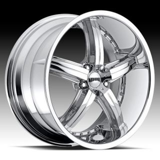 20 Dub Bomber 5 Wheel Set 20x8 5 Chrome Rims for 5 Lug rwd Vehicles