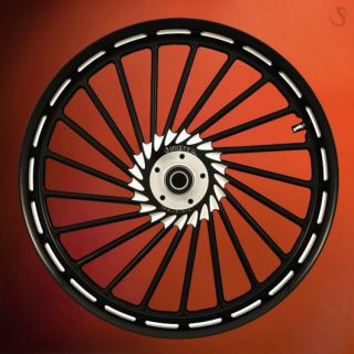 Custom Wheel Set for Harley 23 Black Billet Rims