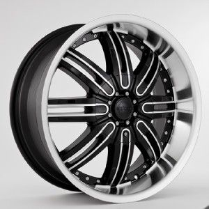 22inch Rims and Tires Wheels 30 Package Black Starr 112