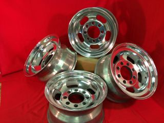 Dodge Rallye Slotted Mags Wheels Rims Polished Western 8x165