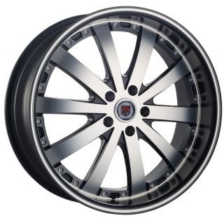 RSW77A 5 Lug Wheel Set 22x9 0 Chrome Rims 5x100 5x127 rwd Rims