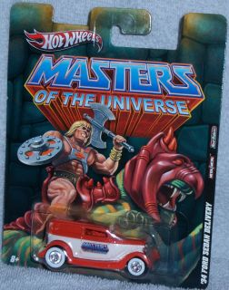 Hot Wheels Masters of The Universe 34 Ford Sedan Delivery Heman Real