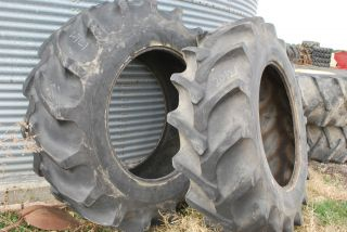 20 8 38 FIRESTONE R 2 COMBINE TRACTOR SWAMP BUGGY TIRES NO RIMS 2