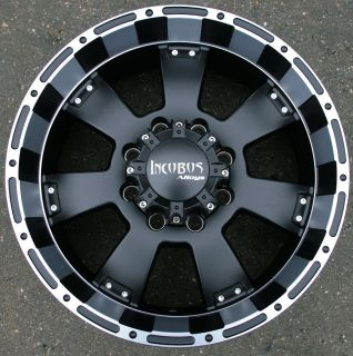 Incubus Krawler 815 20 Black Rims Wheels Chevy 2500 Hummer 8 Lug