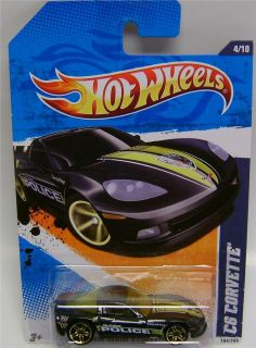 Chevy Corvette C6 Police Hot Wheels 1 64