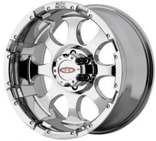 inch 955 MO955 Chrome Offroad Chevy Ford Truck Wheels Rims Set