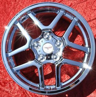 OF 4 NEW 17 18 CHEVROLET CORVETTE Z06 CHROME WHEELS RIMS EXCHANGE 5123