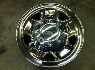 F250 F350 EXCURSSION 17 1 1999 2010 OEM FACTORY CHROME STEEL WHEEL RIM