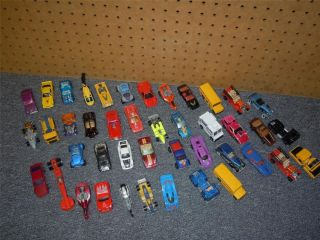 VINTAGE LOT 43 Diecast Hot Wheels Cars Trucks Metal Toys Collection