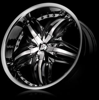 22 Diablo Wheels Angel Staggered Rims Tires S550 BMW